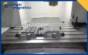 Permanent electromagnetic chuck installation on cnc