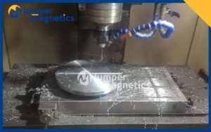 full steel electro-permanent-magnetic-chuck on cnc machine